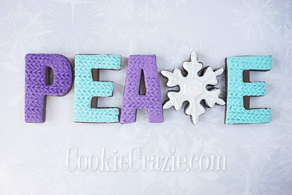 Peace Snowflake Decorated Sugar Cookie YouTube video  HERE