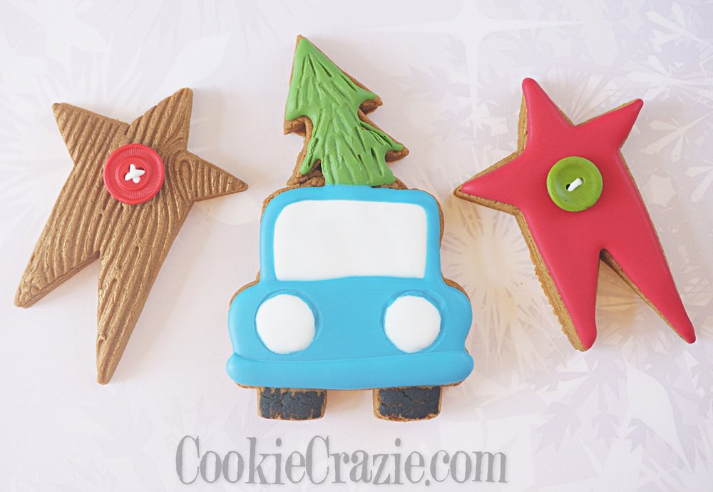 Christmas Tree on Truck Decorated Sugar Cookie YouTube video  HERE