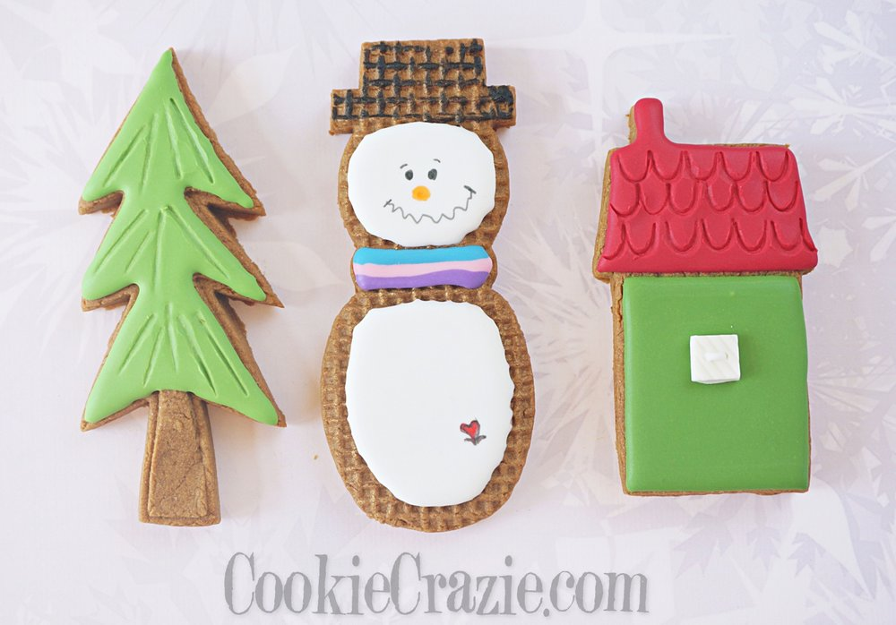 Burlap Snowman Decorated Sugar Cookie YouTube video  HERE