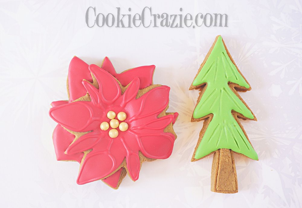 Poinsettia Decorated Sugar Cookie YouTube video  HERE