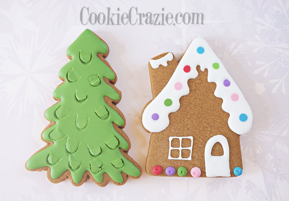 Christmas Evergreen Tree Decorated Sugar Cookie YouTube video  HERE