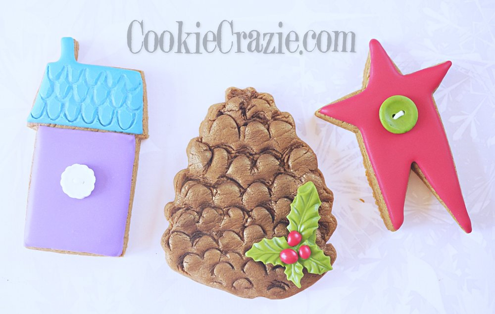 Pinecone Decorated Sugar Cookie YouTube video  HERE