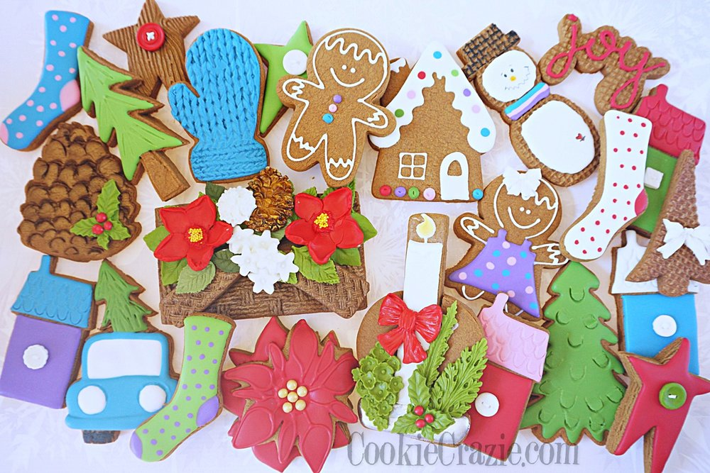 Christmas Joy Decorated Sugar Cookie Collection Cookiecrazie