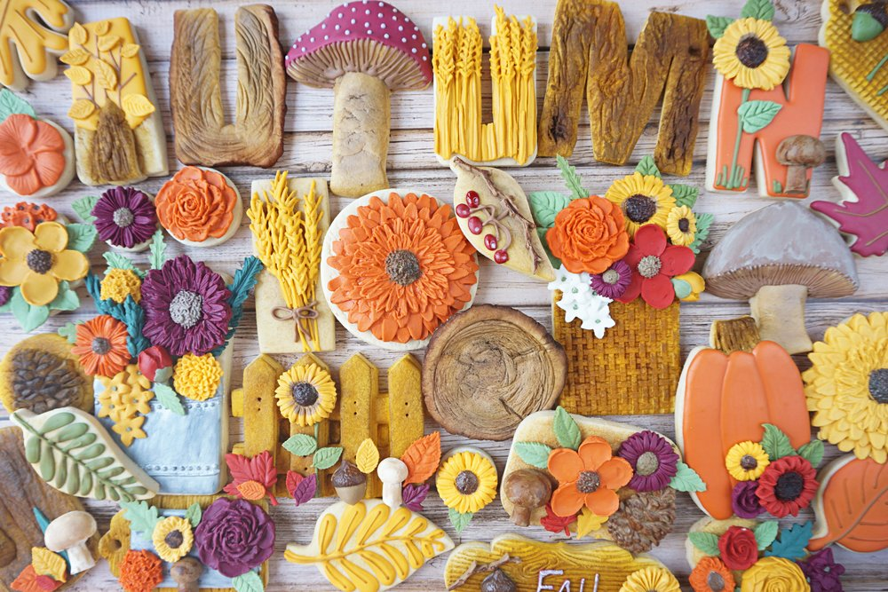 Woodland Fall Decorated Cookie Collection