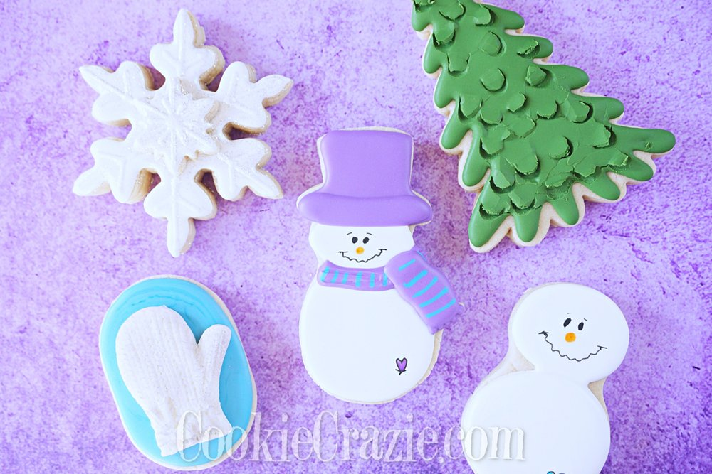 Snowman Decorated Sugar Cookie YouTube video  HERE