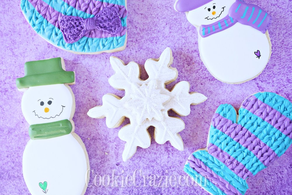 Snowflake Decorated Sugar Cookies YouTube video  HERE