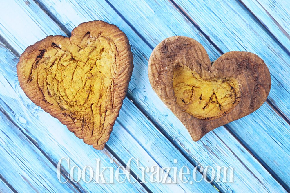 Tree Bark Valentines Heart Decorated Sugar Cookies YouTube video  HERE