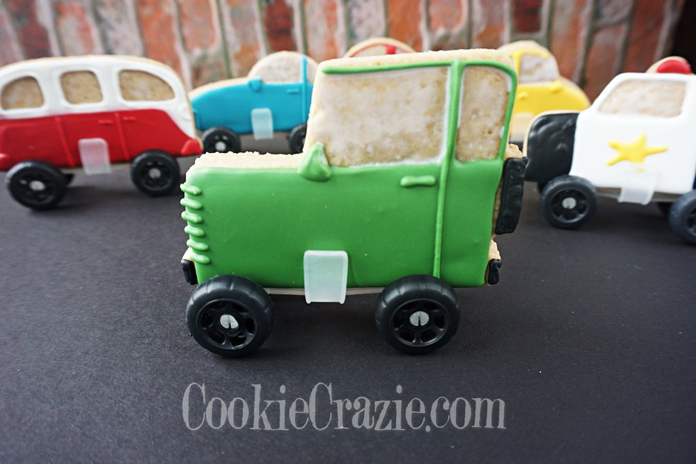Finn's Jeep Decorated Sugar Cookie YouTube video  HERE