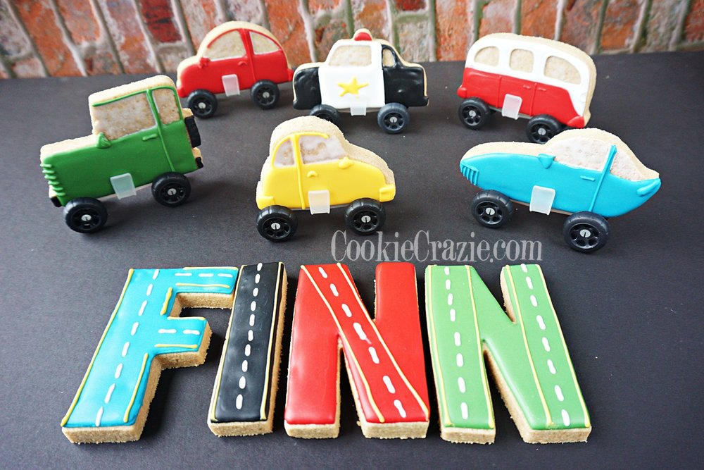 Finn's Birthday Fleet Decorated Sugar Cookies YouTube video  HERE
