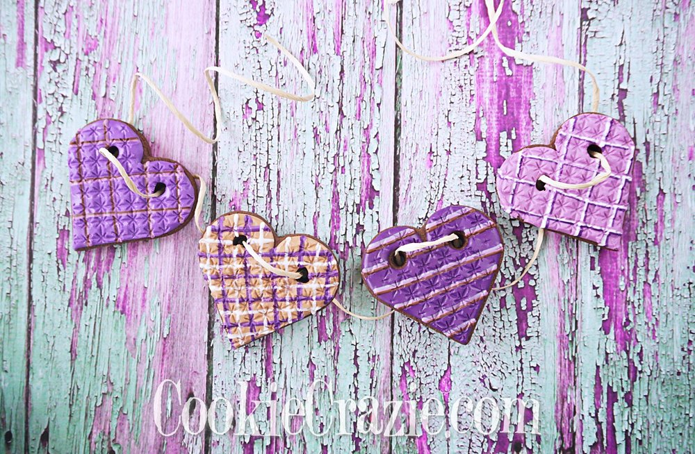 Valentine Heart Bunting Decorated Sugar Cookies YouTube video  HERE
