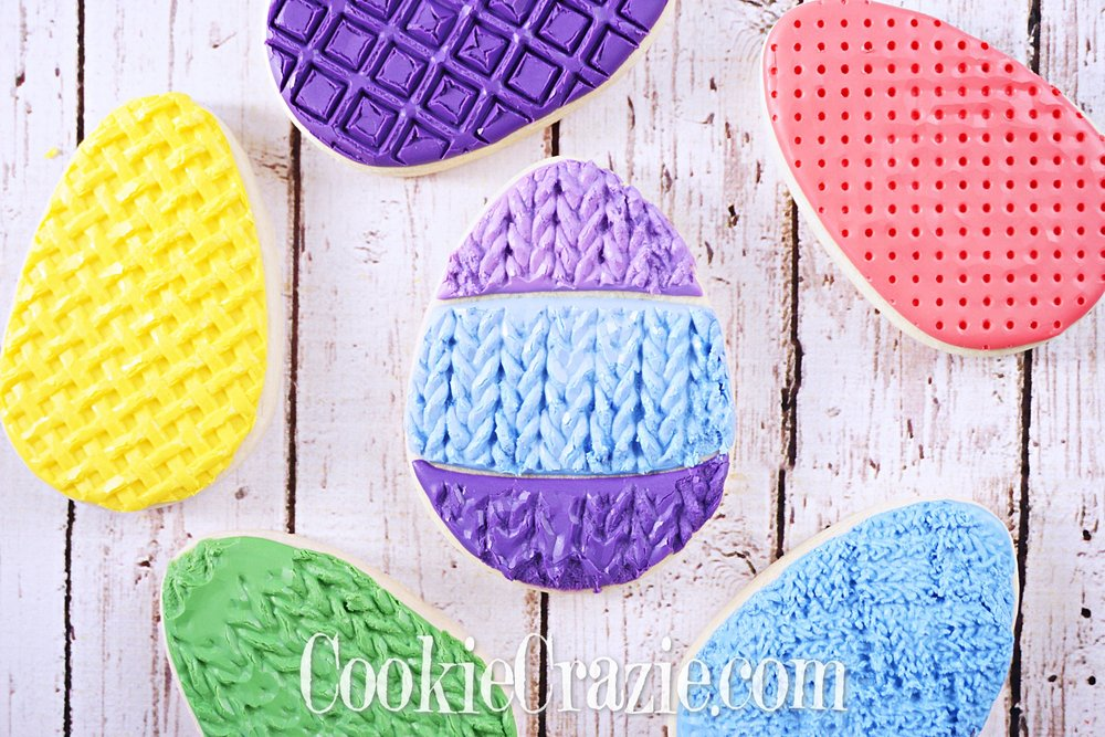 Knitted Easter Egg Decorated Sugar Cookie YouTube video  HERE