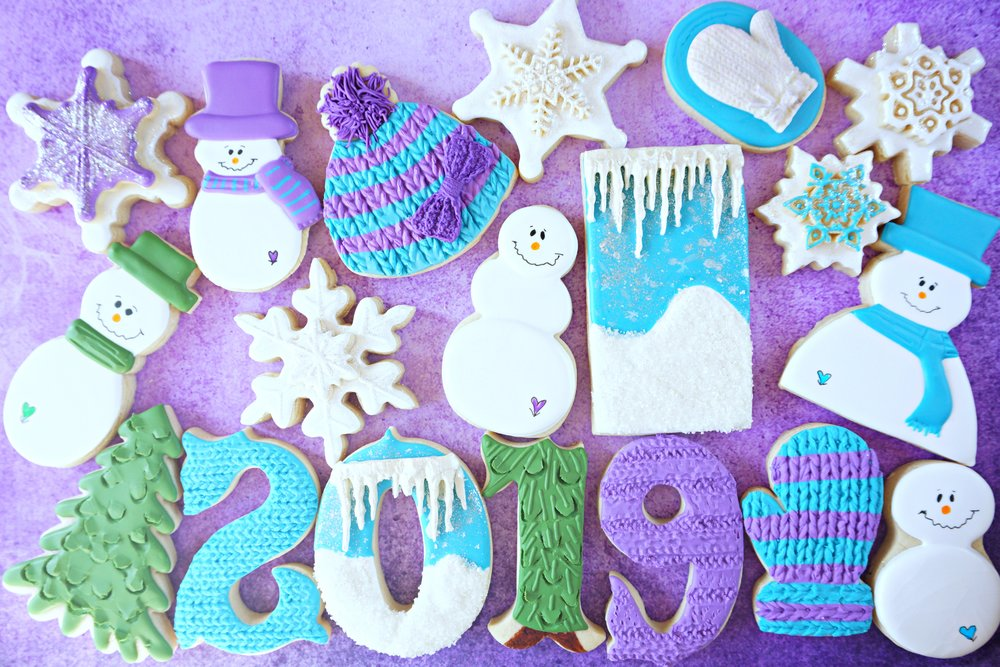 2019 Wintry Welcome Decorated Cookie Collection