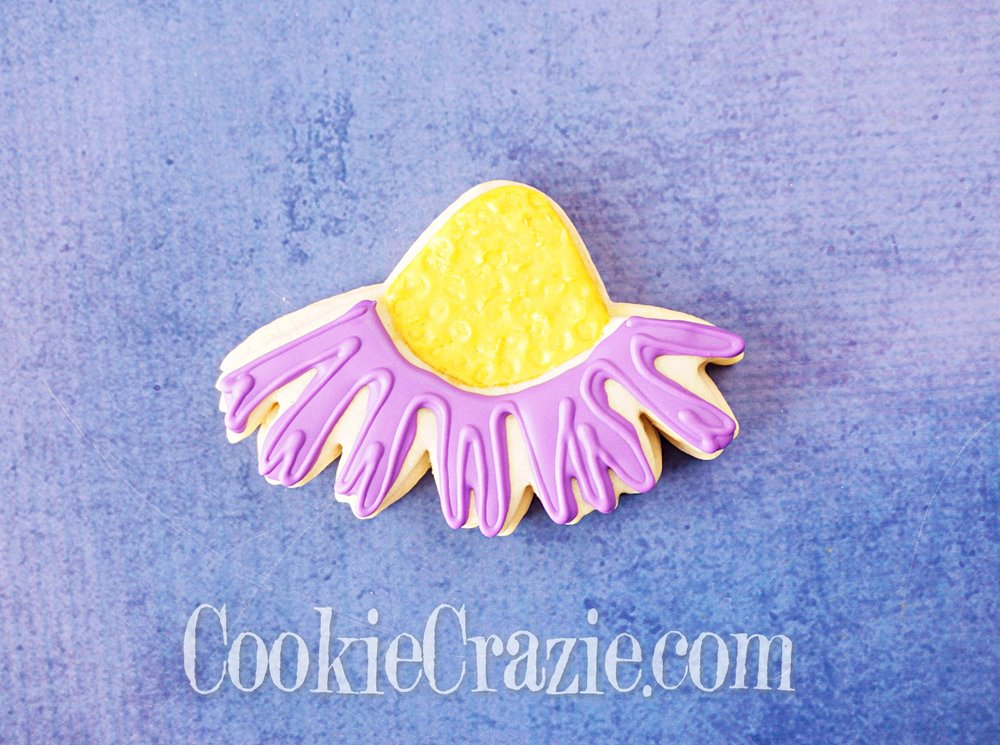 Coneflower Decorated Sugar Cookie YouTube video  HERE