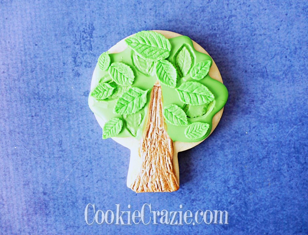 Spring Tree Decorated Sugar Cookie YouTube video  HERE