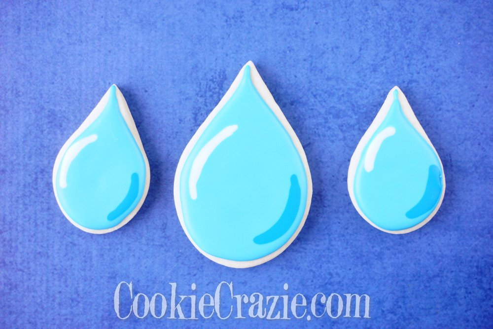 Raindrop Decorated Sugar Cookie YouTube video  HERE