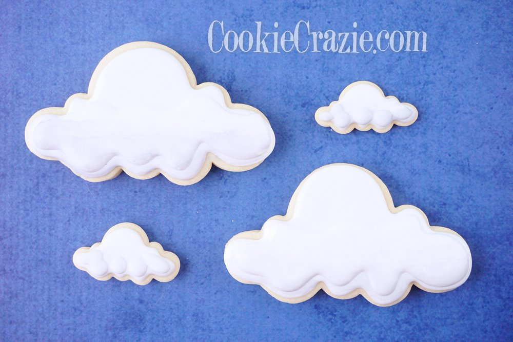 Cloud Decorated Sugar Cookies YouTube video  HERE