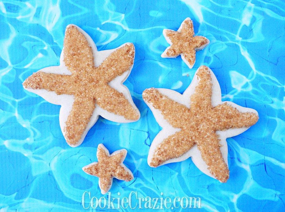 Starfish Decorated Sugar Cookie YouTube video  HERE
