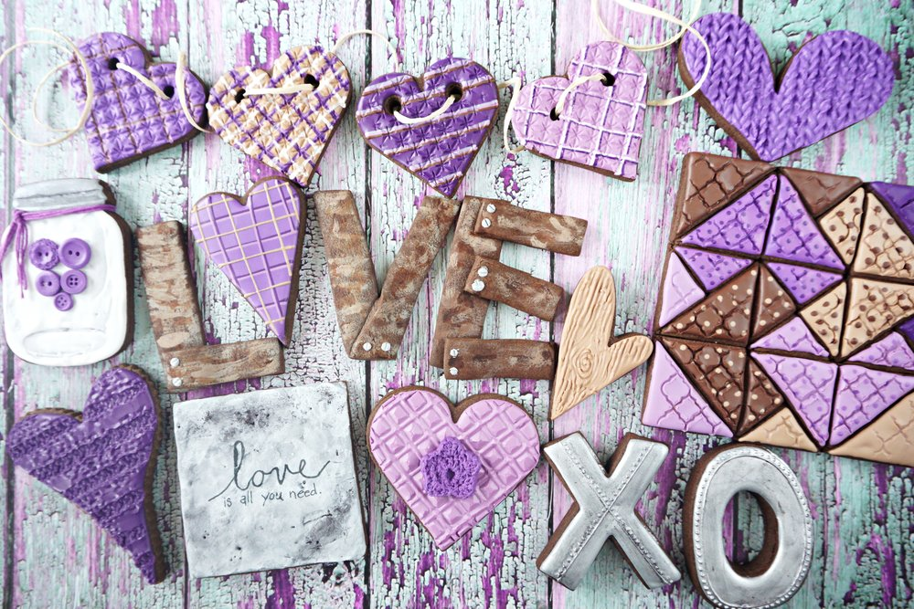 Country Valentines Decorated Sugar Cookie Collection