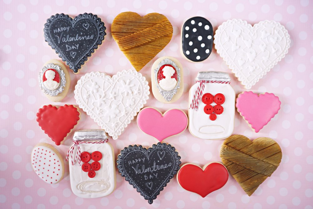 Classic Valentines Decorated Cookie Collection