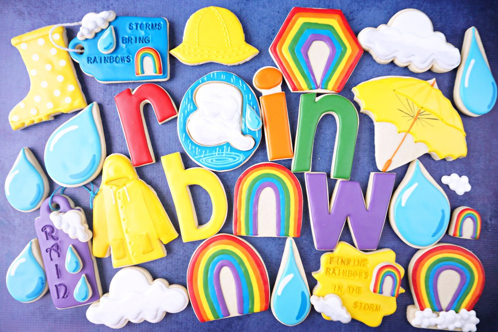 Finding Rainbows in the Rainstorms Cookie Collection