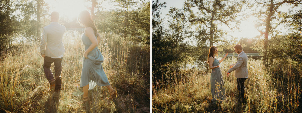 rachel & travis texas engagement strolling in tall grass.jpg