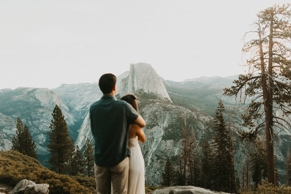 Sunrise at Glacier Point Yosemite Engagement Session-5.jpg
