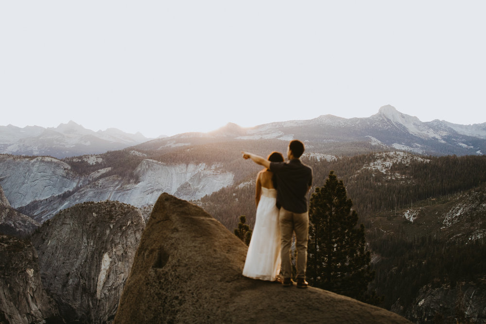 Sunrise at Glacier Point Yosemite Engagement Session-14.jpg