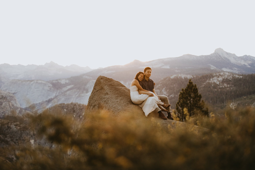 Sunrise at Glacier Point Yosemite Engagement Session-15.jpg