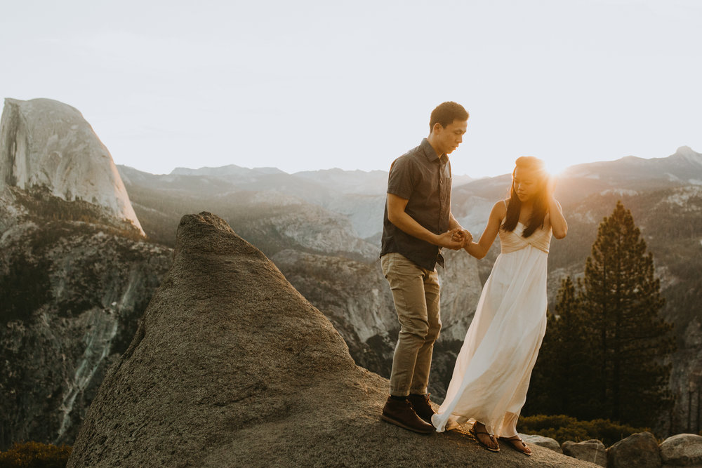 Sunrise at Glacier Point Yosemite Engagement Session-19.jpg