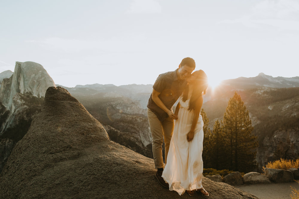 Sunrise at Glacier Point Yosemite Engagement Session-20.jpg