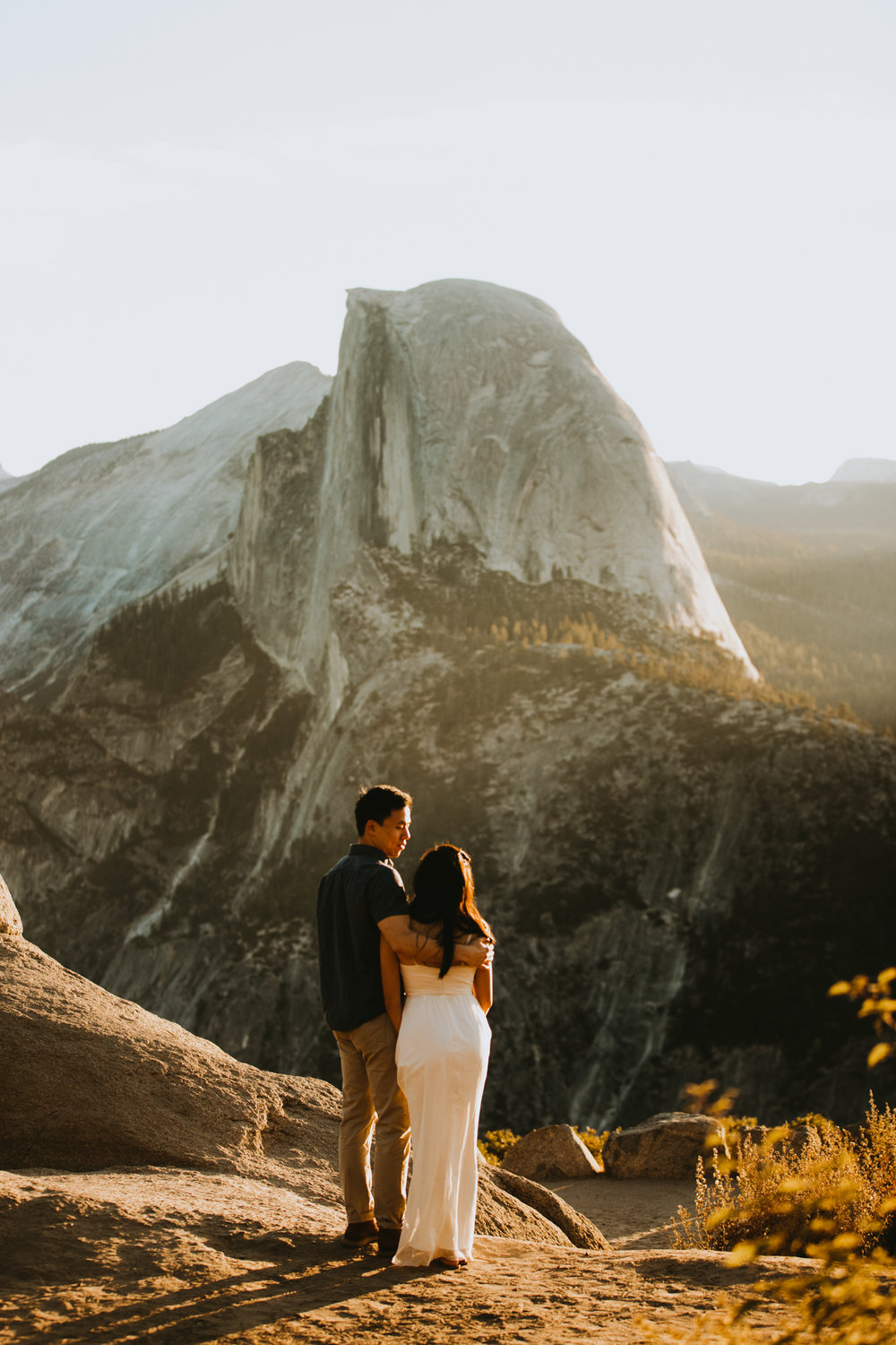 Sunrise at Glacier Point Yosemite Engagement Session-29.jpg