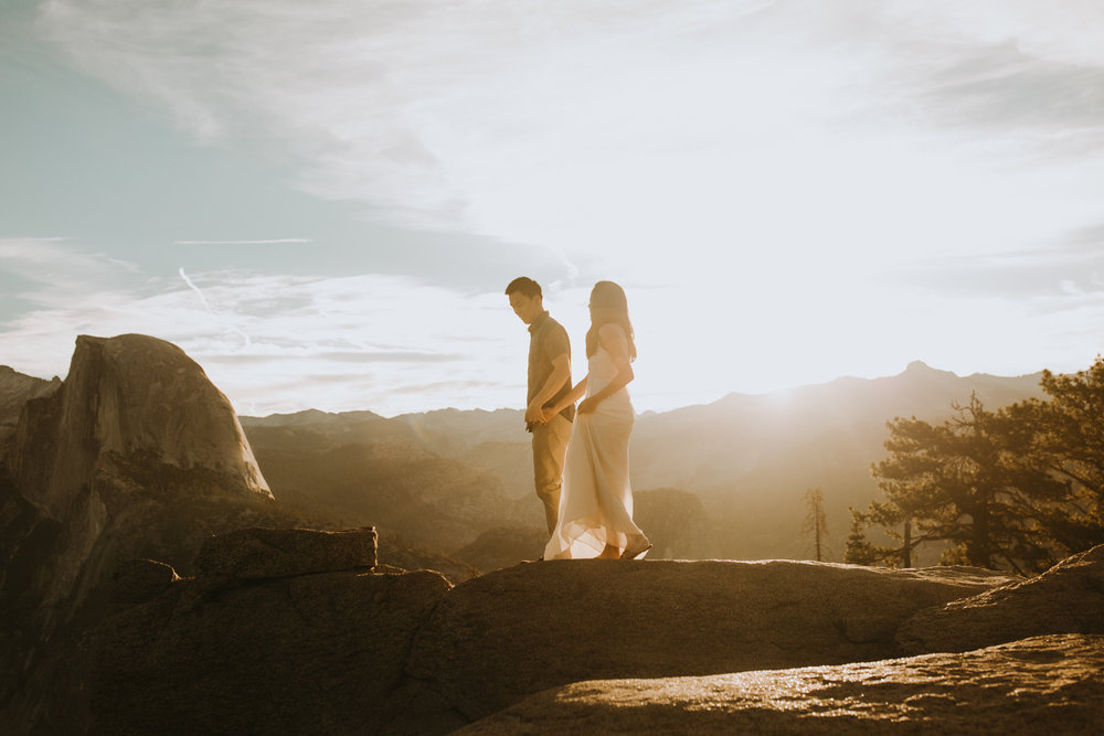 Sunrise at Glacier Point Yosemite Engagement Session-41.jpg