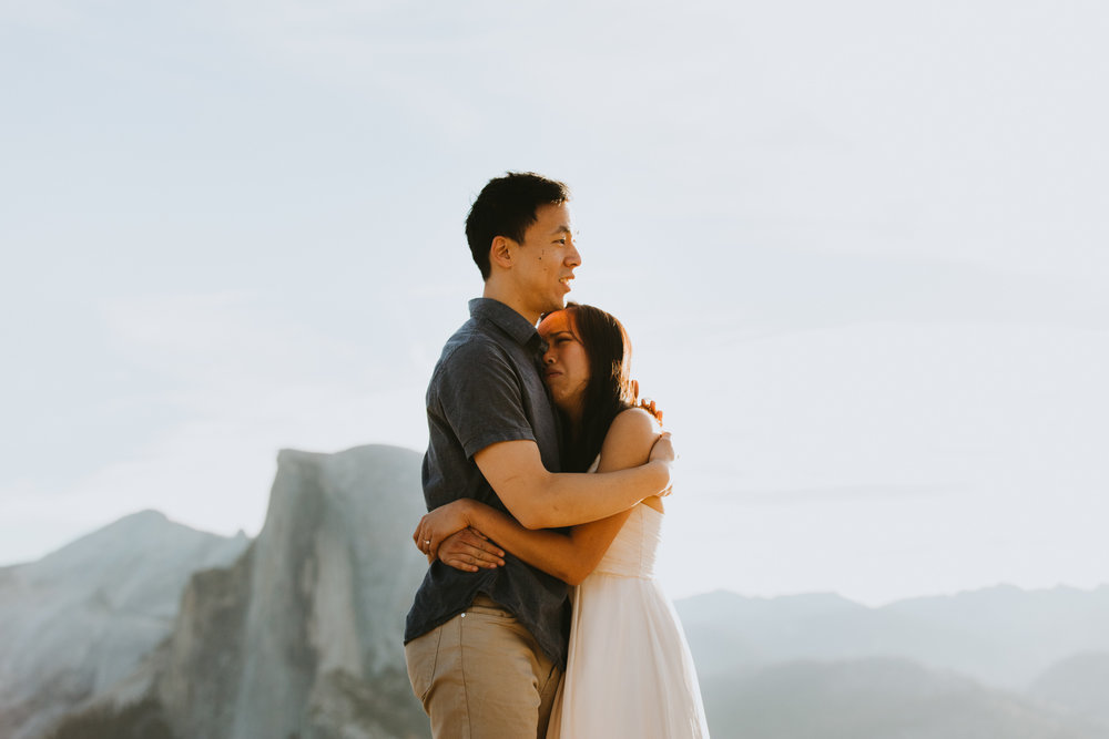 Sunrise at Glacier Point Yosemite Engagement Session-45.jpg