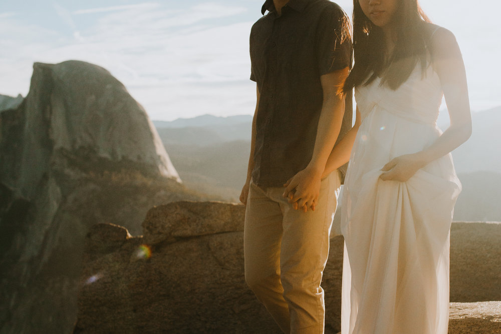 Sunrise at Glacier Point Yosemite Engagement Session-49.jpg