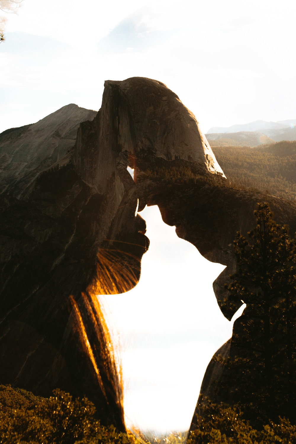 Sunrise at Glacier Point Yosemite Engagement Session-59.jpg