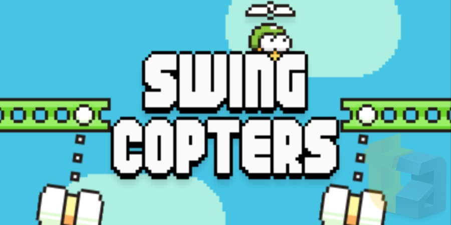 Screenshot from Swing Copters