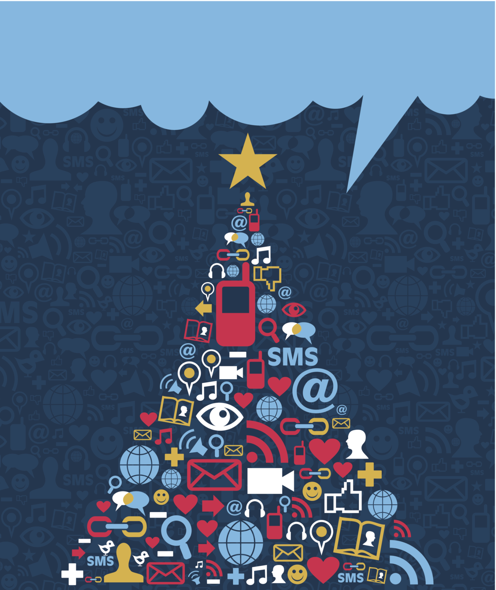 Nothing says holiday magic like smartphones, emails and hashtags. (Thinkstock)