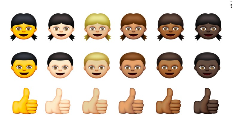 #InclusiveEmojis, courtesy of Apple.