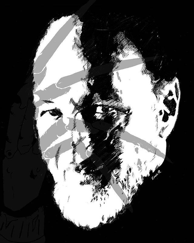 Robert Englund ink piece