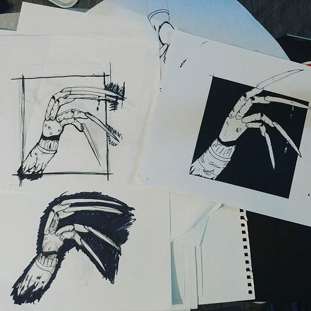 The kreugar claw through different phases