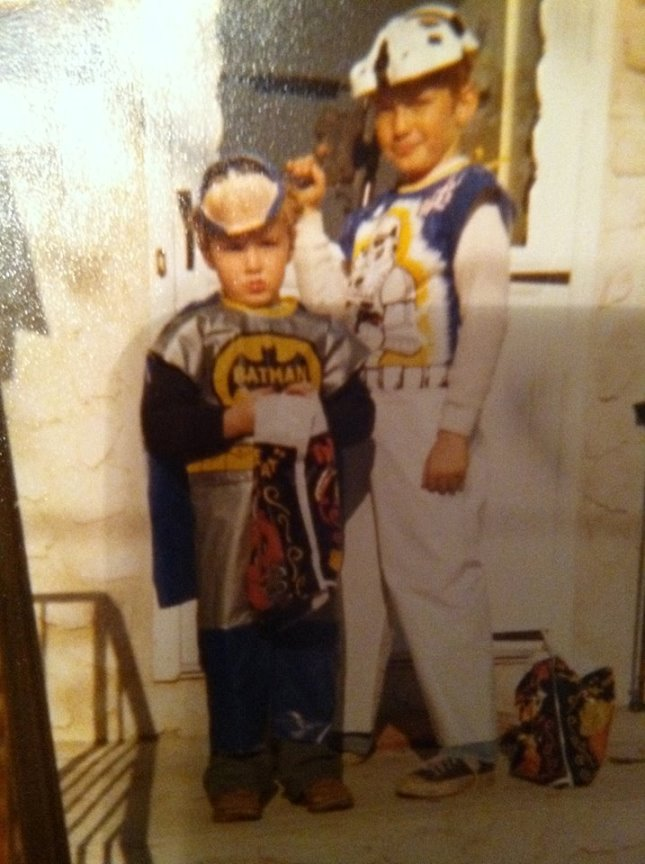 Shawn Moynihan (R) and younger brother Brendan - Halloween, 1980