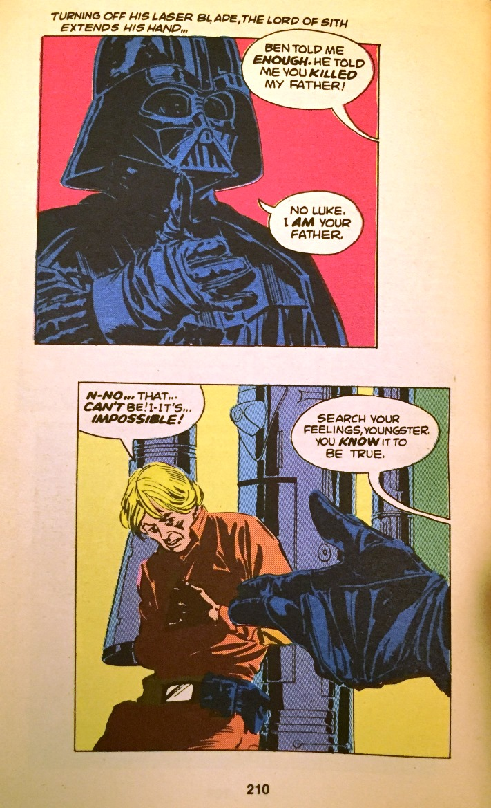 Understated paternity reveal -  Empire Strikes Back  Marvel Comic Adaptation
