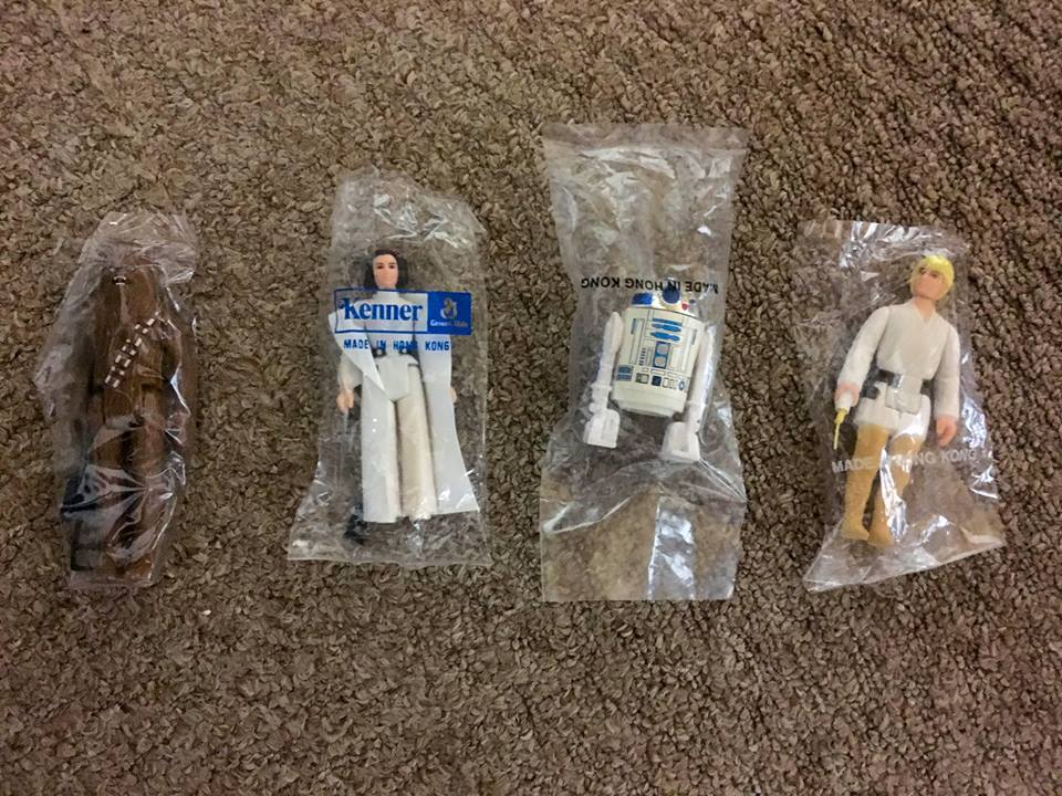 Bagged vintage Kenner action figures from the Westgate - Photo courtesy of Chris Fawcett