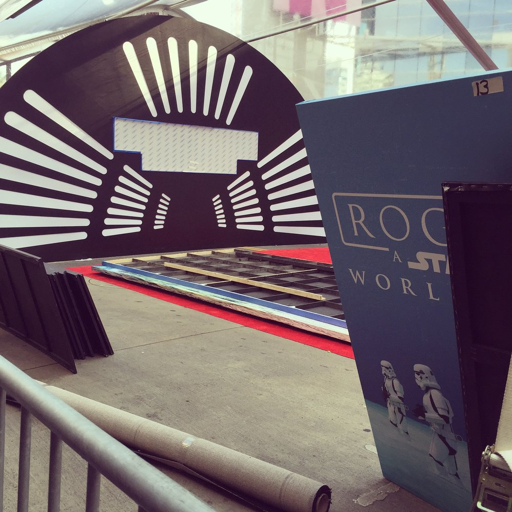 World Premiere Set-up, Hollywood Blvd.  - Hollywood, CA