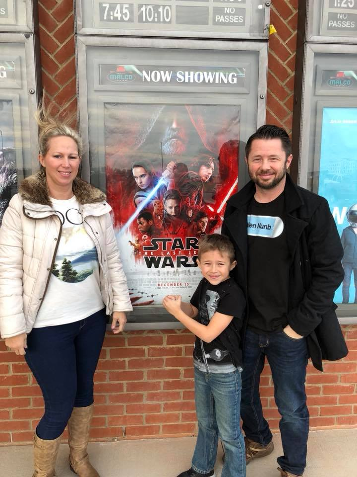 The Walker clan following a family viewing of  The Last Jedi  at the Malco Cinema in Sikeston, MO