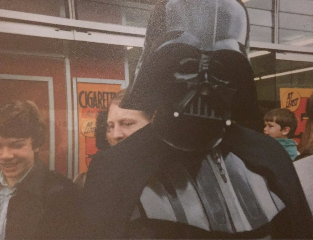 Darth Vader makes an appearance in  Leicester, U.K. (August 14th, 1981)