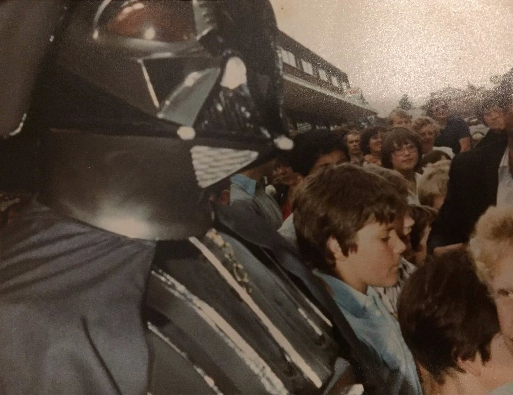 Up close and personal with Darth Vader - Leicester, U.K. (August 14th, 1981)