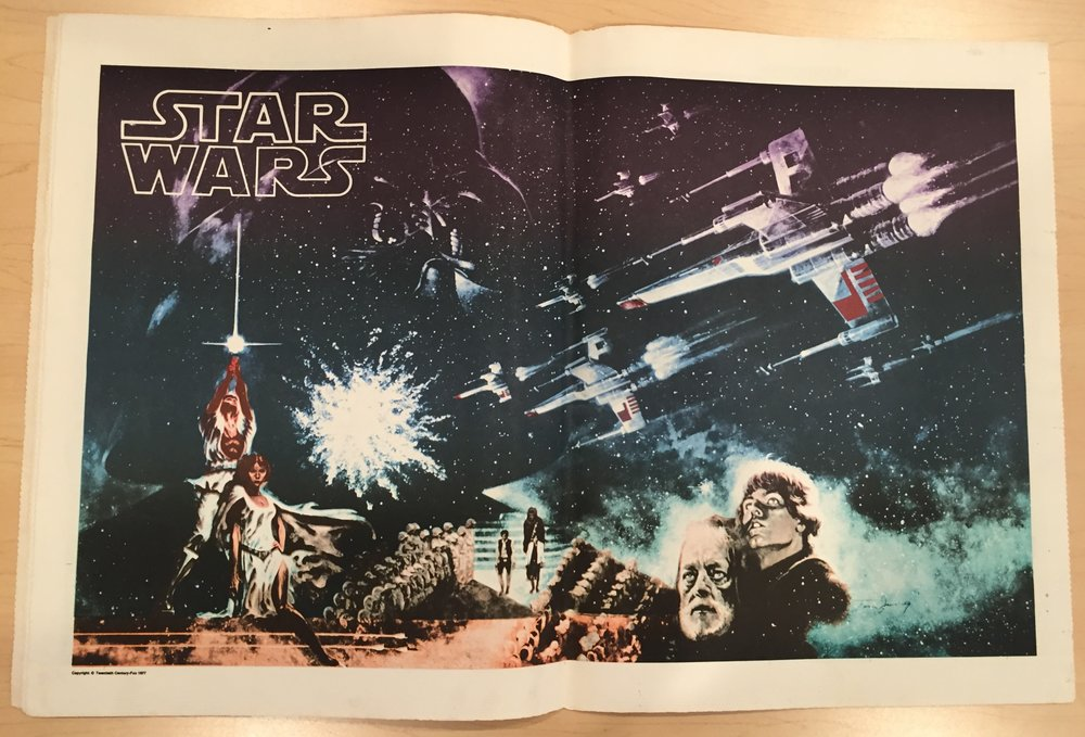 The marquee two-page spread from the Jul-Aug 1977 issue was a rather psychedelic rendering of Tom Jung's art.