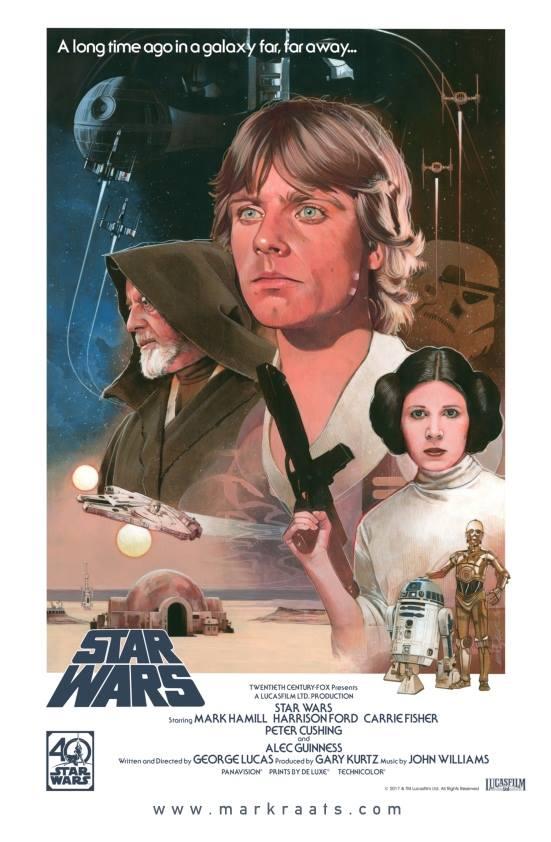 Star Wars  40th Anniversary Poster - Image courtesy of Mark Raats