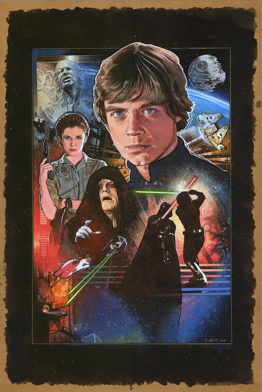 Return of the Jedi  30th Anniversary Poster Artwork - Image courtesy of Mark Raats